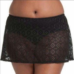 Catalina Mesh Crochet Swim Skirt Bottom size 2X